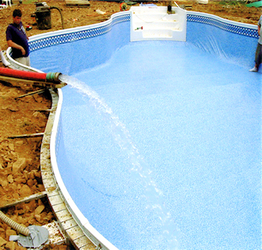 In Ground Pool Installation