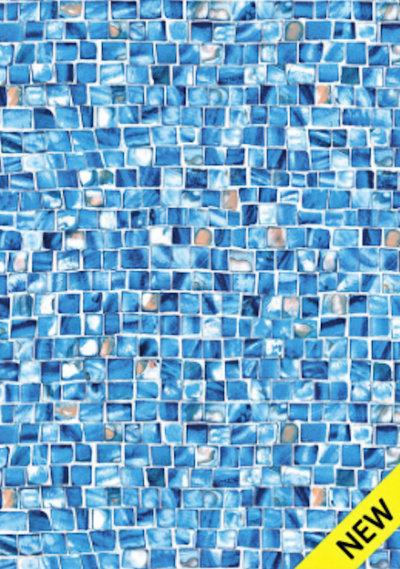Inground Liners Borderless / Azure Mosaic