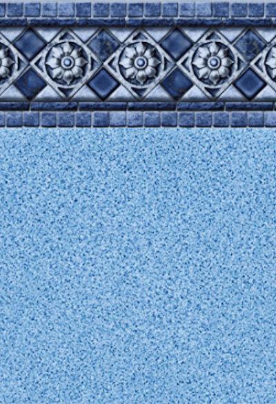 Inground Liners Florentine / Blue Crystal