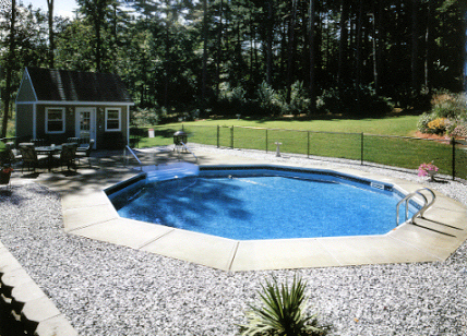Patio Vinyl Liner In Ground Pool American Recreational